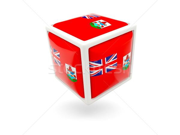 Stock fotó: Zászló · kocka · ikon · izolált · fehér · utazás
