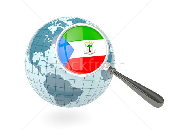 флаг Экваториальная Гвинея синий мира изолированный Сток-фото © MikhailMishchenko