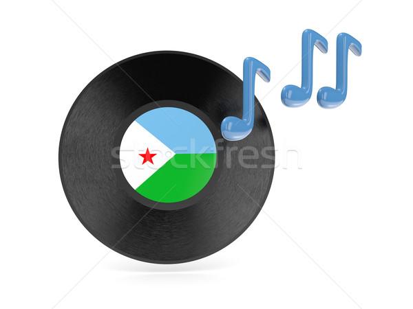 виниловых диск флаг Джибути изолированный белый Сток-фото © MikhailMishchenko