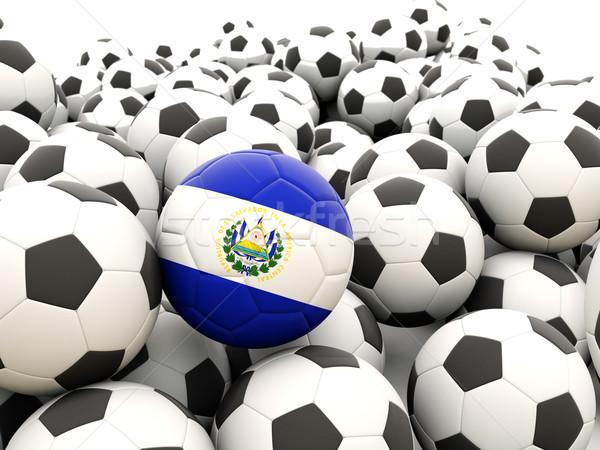 Futebol bandeira El Salvador regular verão Foto stock © MikhailMishchenko