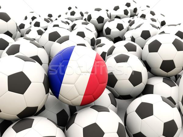 Voetbal vlag Frankrijk regelmatig zomer Stockfoto © MikhailMishchenko