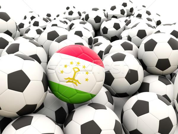 Futball zászló Tádzsikisztán rendszeres golyók nyár Stock fotó © MikhailMishchenko