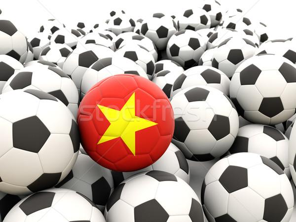 Futebol bandeira Vietnã regular verão Foto stock © MikhailMishchenko