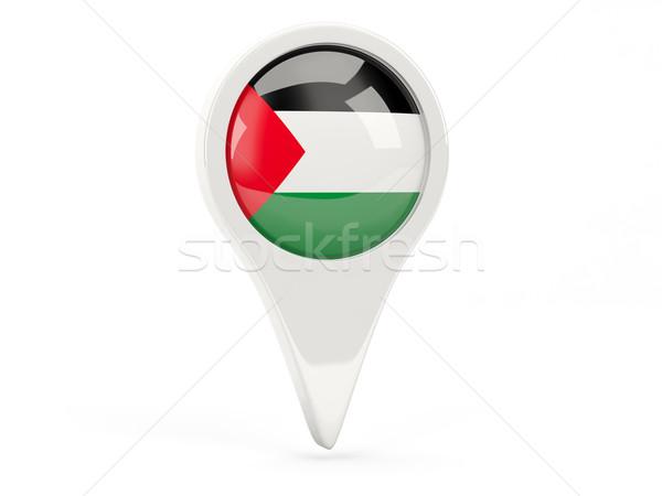 Zászló ikon terület izolált fehér térkép Stock fotó © MikhailMishchenko