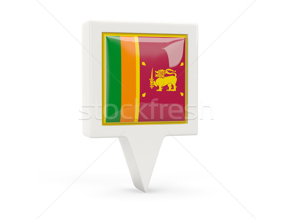 Square flag icon of sri lanka Stock photo © MikhailMishchenko