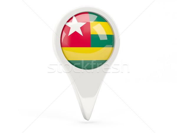 Banderą ikona Togo odizolowany biały Pokaż Zdjęcia stock © MikhailMishchenko