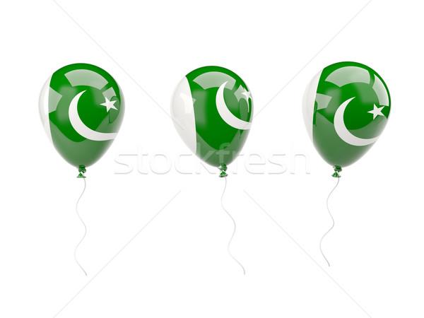 Hava balonlar bayrak Pakistan yalıtılmış beyaz Stok fotoğraf © MikhailMishchenko