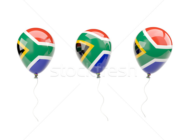 Air balloons with flag of south africa Stock photo © MikhailMishchenko