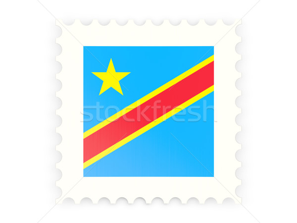 Postage stamp icon of democratic republic of the congo Stock photo © MikhailMishchenko