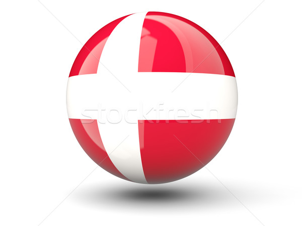 Icon vlag Denemarken geïsoleerd witte reizen Stockfoto © MikhailMishchenko