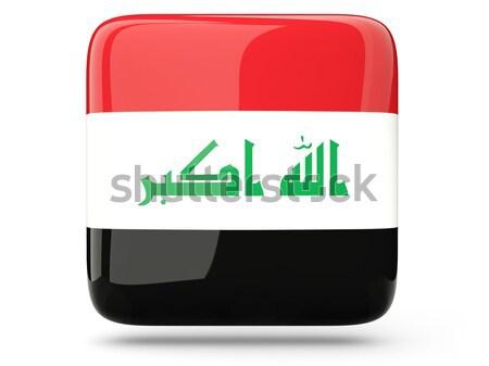 ícone bandeira Iraque isolado branco viajar Foto stock © MikhailMishchenko
