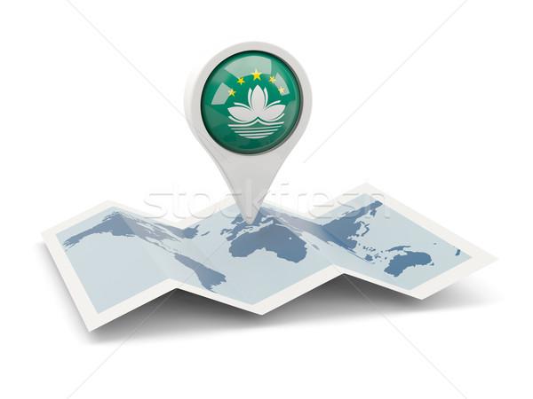 Round pin with flag of macao Stock photo © MikhailMishchenko