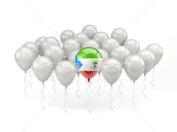 Lucht ballonnen vlag Equatoriaal-Guinea geïsoleerd witte Stockfoto © MikhailMishchenko