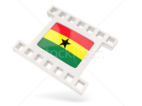 фильма икона флаг Гана изолированный белый Сток-фото © MikhailMishchenko