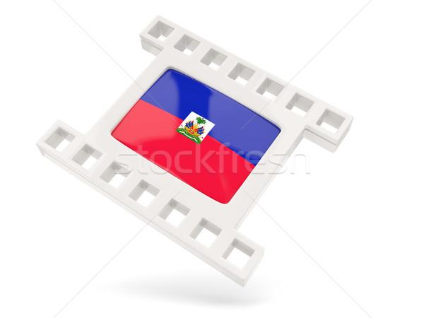 映画 アイコン フラグ ハイチ 孤立した 白 ストックフォト © MikhailMishchenko