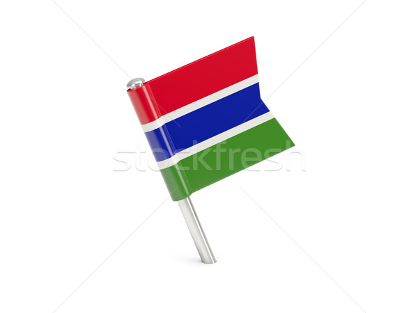 Flag pin of gambia Stock photo © MikhailMishchenko