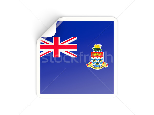 Square sticker with flag of cayman islands Stock photo © MikhailMishchenko