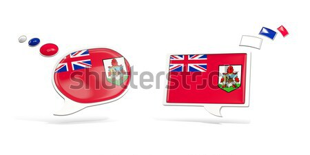 Tér matrica zászló Fidzsi-szigetek izolált fehér Stock fotó © MikhailMishchenko