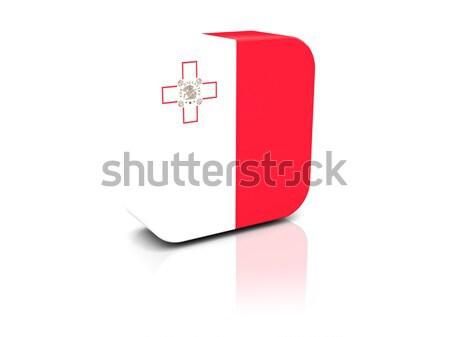 Etiqueta bandera Georgia aislado blanco viaje Foto stock © MikhailMishchenko