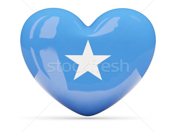 Serca ikona banderą Somali odizolowany Zdjęcia stock © MikhailMishchenko