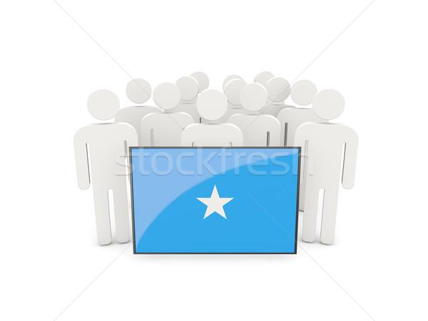 Personnes pavillon Somalie isolé blanche foule Photo stock © MikhailMishchenko