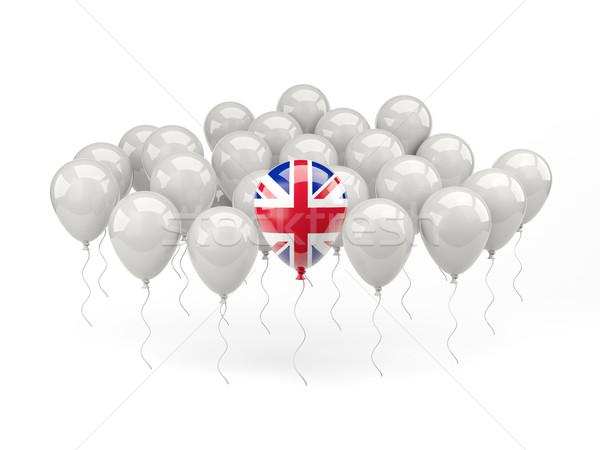 Levegő léggömbök zászló Egyesült Királyság izolált fehér Stock fotó © MikhailMishchenko