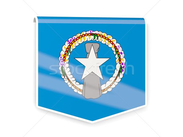 Vlag label noordelijk eilanden geïsoleerd witte Stockfoto © MikhailMishchenko