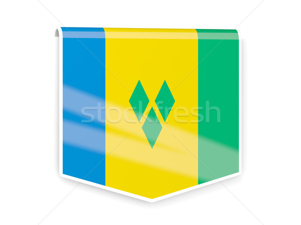 Flag label of saint vincent and the grenadines Stock photo © MikhailMishchenko