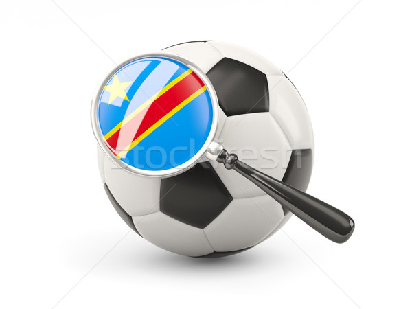 Football with magnified flag of democratic republic of the congo Stock photo © MikhailMishchenko
