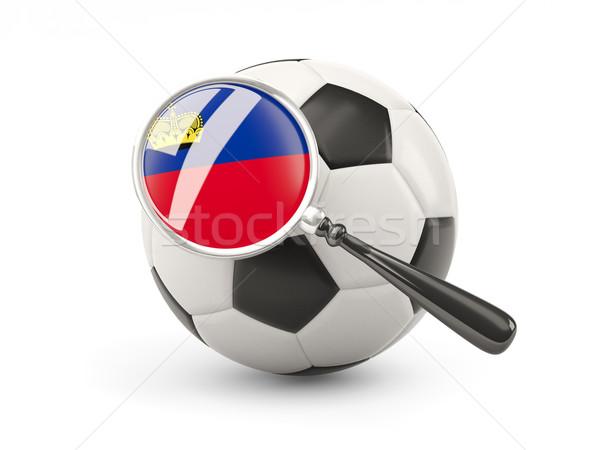 Calcio bandiera Liechtenstein isolato bianco Foto d'archivio © MikhailMishchenko