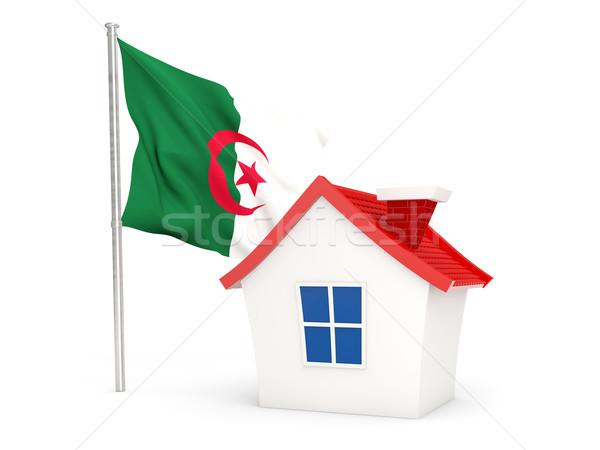 Maison pavillon Algérie isolé blanche Photo stock © MikhailMishchenko