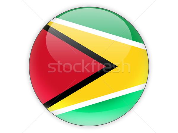 Icon vlag Guyana geïsoleerd witte reizen Stockfoto © MikhailMishchenko