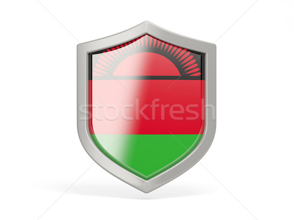 Shield icon with flag of malawi Stock photo © MikhailMishchenko