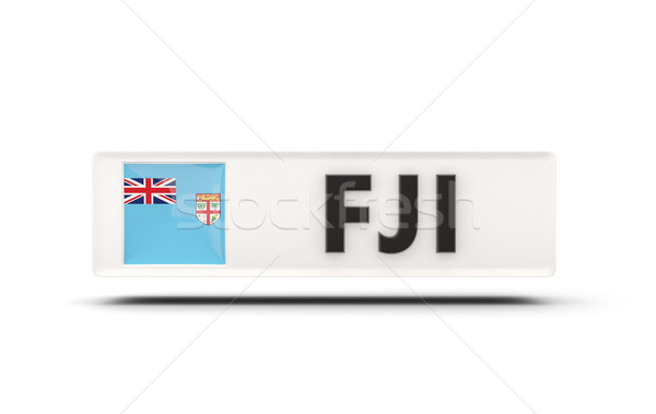 Piazza icona bandiera Fiji iso codice Foto d'archivio © MikhailMishchenko
