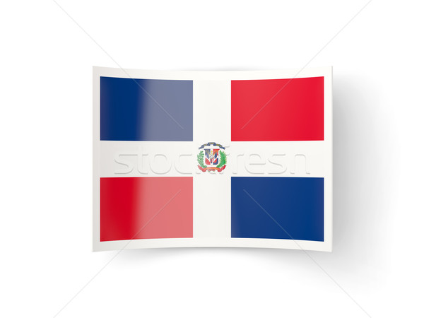 Bent icon with flag of dominican republic Stock photo © MikhailMishchenko