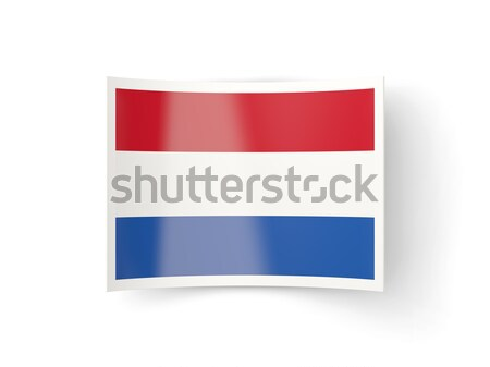 Icon vlag Luxemburg geïsoleerd witte land Stockfoto © MikhailMishchenko
