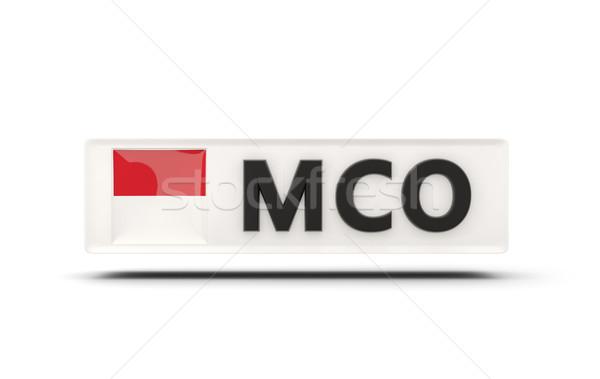 квадратный икона флаг Монако iso Код Сток-фото © MikhailMishchenko