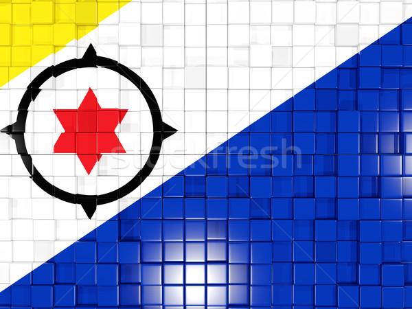Background with square parts. Flag of bonaire. 3D illustration Stock photo © MikhailMishchenko