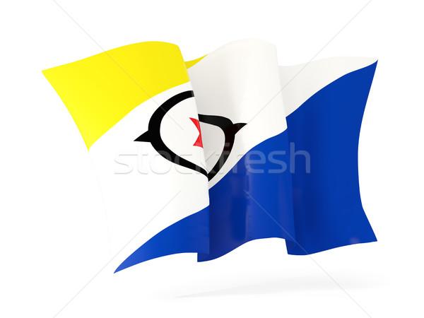 Waving flag of bonaire. 3D illustration Stock photo © MikhailMishchenko