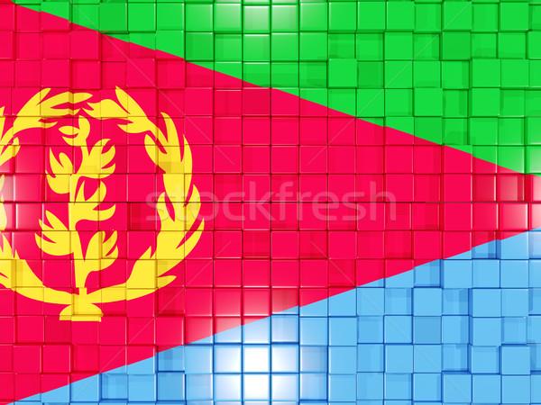 квадратный флаг Эритрея 3d иллюстрации мозаика Сток-фото © MikhailMishchenko