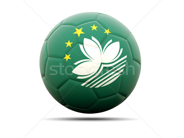 Football with flag of macao Stock photo © MikhailMishchenko