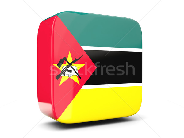 Praça ícone bandeira Moçambique ilustração 3d isolado Foto stock © MikhailMishchenko