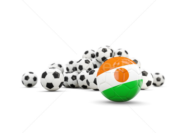 Football with flag of niger isolated on white Stock photo © MikhailMishchenko