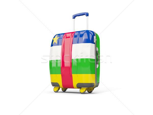 荷物 フラグ セントラル アフリカ 共和国 スーツケース ストックフォト © MikhailMishchenko