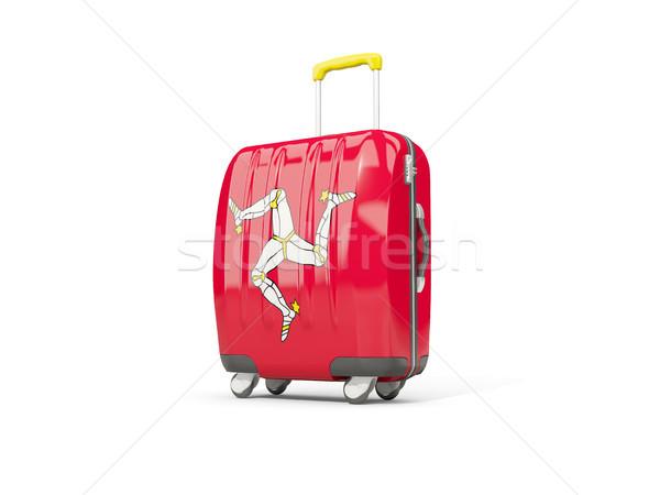 荷物 フラグ 男 スーツケース 孤立した 白 ストックフォト © MikhailMishchenko