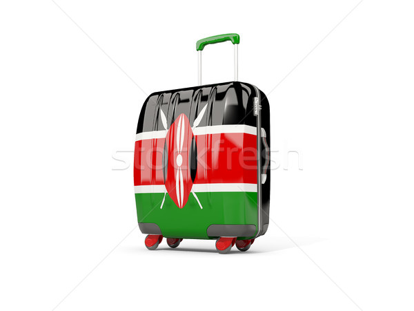 Luggage with flag of kenya. Suitcase isolated on white Stock photo © MikhailMishchenko