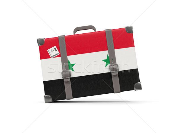 荷物 フラグ シリア スーツケース 孤立した 白 ストックフォト © MikhailMishchenko
