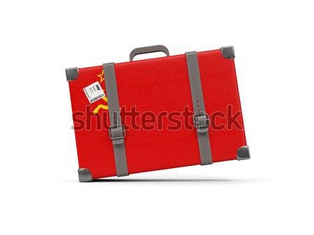 Luggage with flag of tonga. Suitcase isolated on white Stock photo © MikhailMishchenko