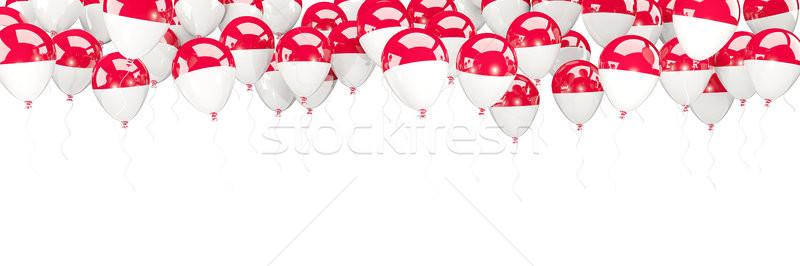 Balloons frame with flag of indonesia Stock photo © MikhailMishchenko