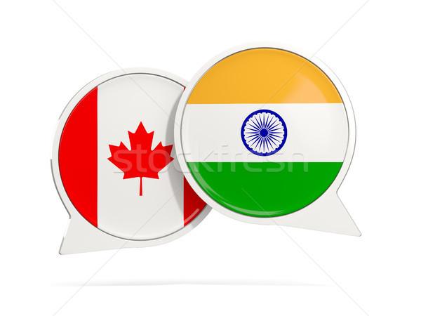 Sohbet kabarcıklar Kanada Hindistan yalıtılmış beyaz Stok fotoğraf © MikhailMishchenko